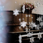 New Acrylic Crystal Snowflake Bead Garland Curtain Wedding Home Party Decoration