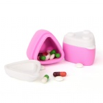 Silicone travel pill case