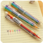 diy creative new writing colorful multi color Ballpoint Pens cute 6 in 1 colors office school stationery promotion gift