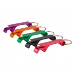 Colorful Aluminum Alloy Keyring Keychain Anti-slip Can Lid Screw Opener Durable Mini Soda Beer Bottle Cap Opener Tool