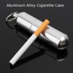 Portable Mini Cigarette Case Aluminum alloy Cigarette Case With Keychain Storage Boxes For Cigarette Drug Pills
