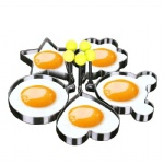 Stainless steel Cute Shaped Fried Egg Mold Pancake Rings Mold Kitchen Tool