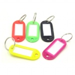 lastic Keychain Key Tags Id Label Name Tags With Split Ring For Baggage Key Chains Key Rings