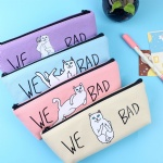 Canvas Pencil Case Cute Kawaii Cat Pencil Bag