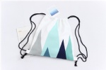Drawstring Backpacks Nordic Geometric Cotton Canvas