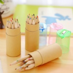 Pencil kraft paper tube with 12 colors
