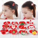 Christmas Hair Strings Snowman kids Children's Elastic Hair Adornment hair bands