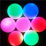 LED Electronic Golf Balls Small Light Up Flashing Glowing Day And Night Golfing Practicing