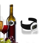 Electronic LCD Red Wine Bottle Thermometer Digital Wine Watch Temperature Meter Automatical Bottle Thermometer Wine Tools