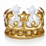 Inflatable Gold Crown Kids Adult Birthday Hats Cap King Toy Party Decoration PVC Balloon