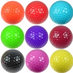 Custom logo colorful Golf Ball Practice Plastic Sports Home Indoor and Outdoor Resistant Training Red Yellow Blue Green Golf Ball Golf Accessories