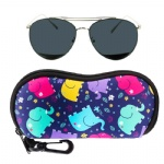 Custom logo Neoprene Eyeglasses Protector Container Cases Skating Sunglasses Storage Pouches Cloth Glasses Carry Bag