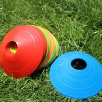 Custom logo Soccer Training Sign Dish Pressure Resistant Cones Marker Discs Marker Bucket PVC Sports Accessories