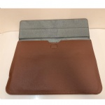 Custom logo PU Leather Laptop Sleeve Notebook Bag Pouch Case for Macbook Air 11 13 12 15 Pro 13.3 15.4