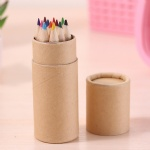Kraft paper tube color pencil 12 color 12 loaded